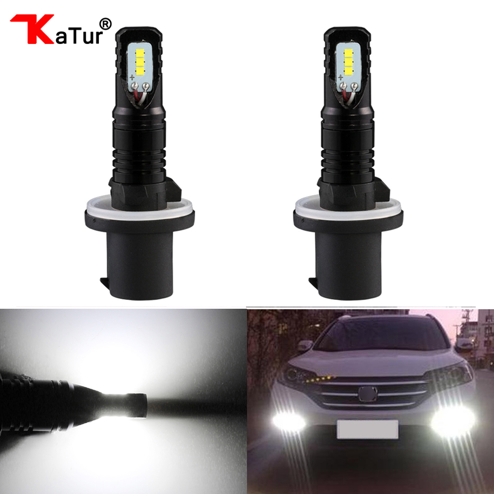 Katur 80W H27 880 881 Led Bulbs For Cars Daytime Driving Fog Lights CSP Chip Super Bright 6000K White Lighting H27W/2 H27W/1 Led цена