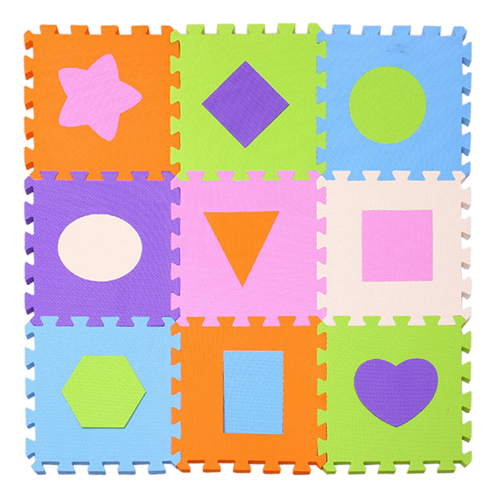 "MQIAOHAM EVA New 9pcs 11.8""*11.8"" Puzzle Floor GYM Soft Kids Foam Mat baby play puzzle Star cartoon foam Kids Gaming Mat"