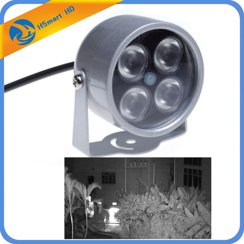 Mini CCTV LEDS 4 Array IR Led Illuminator Light IR Infrared Waterproof Night Vision CCTV Fill Light For CCTV Camera Ip Camera