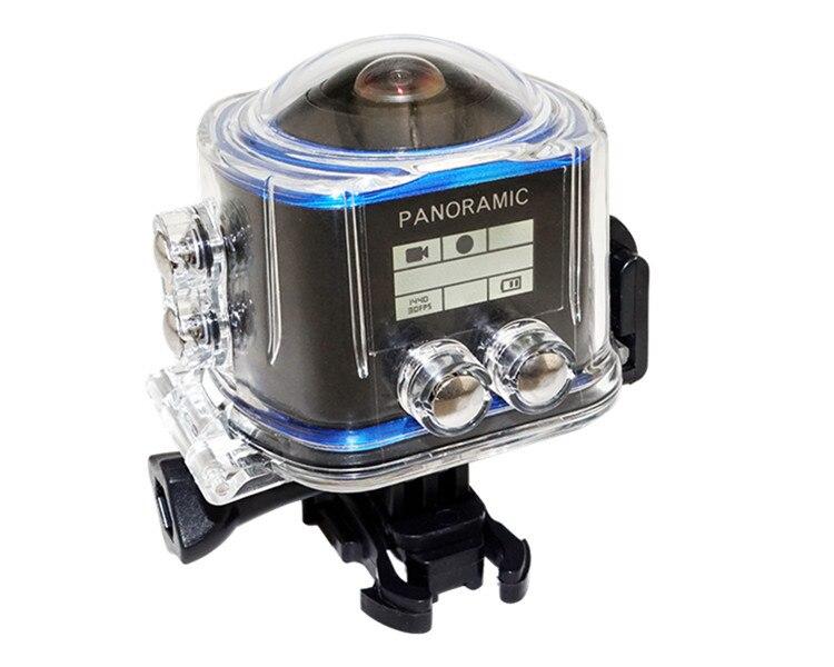 360 Panoramique D'action Caméra Grand Angle WiFi Étanche Caméra 2448*2448/30fps Full HD Cam 16MP R360 caméra