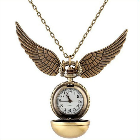 Fast Shipping Harry Potter Quartz Pocket Watch Christmas Eve Death Note Deadpool Golden Snitch Wings Watch Gift Reloj