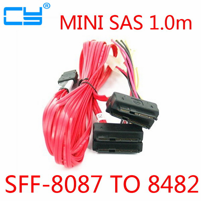 LSI 3Ware Mini SAS Cable SFF 8087 36pin to SFF 8482 Hard Disk and Power x4 SAS 1 5ft 0 5m slim line sas 4 0 sff 8654 4i 38pin host to 4 sata 7pin target hard disk fanout raid connecting cable 50cm