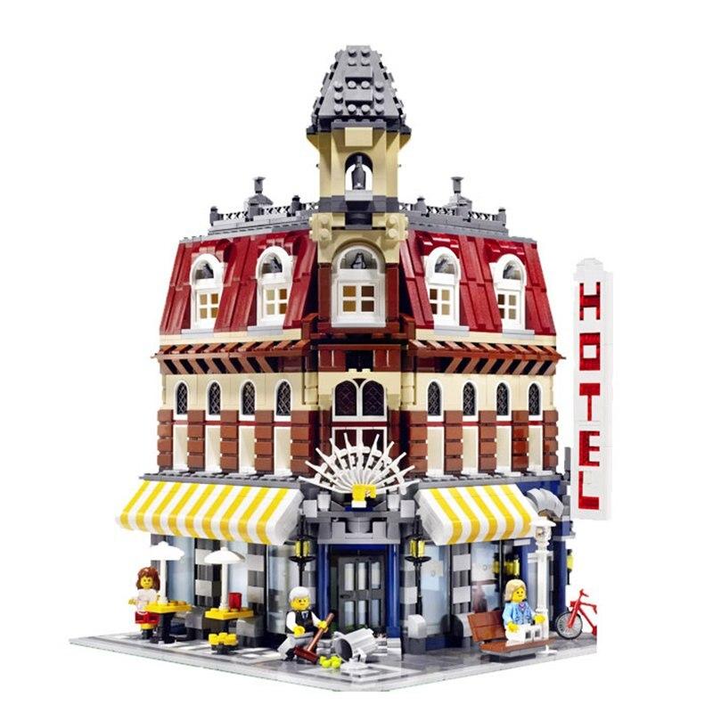 Создатель кафе угол 2133 шт. Street View строительные блоки игрушки для детей Совместимость Legoing создатели 10182