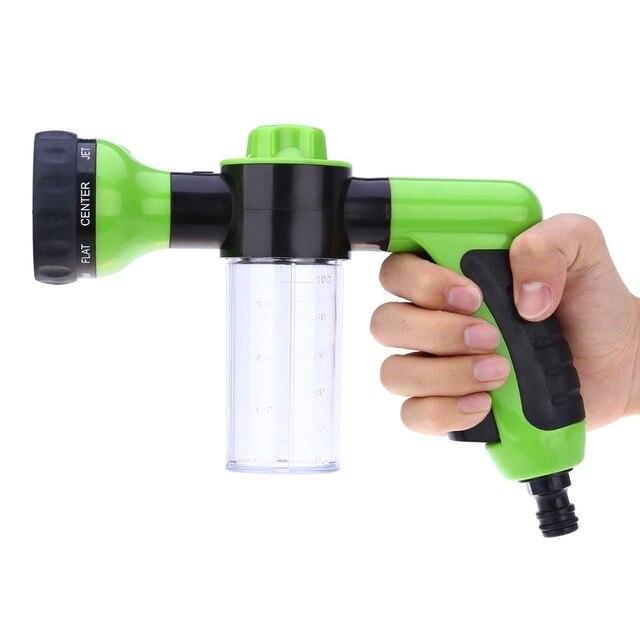 8 In 1 Jet Spray Gun Soap Dispenser Garden Watering Hose Nozzle Car Washing Tool