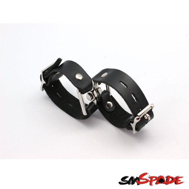 New arrival black leather wrist cuffs for couples,men fashion leather bracelets,adult sex products for sex game free shipping