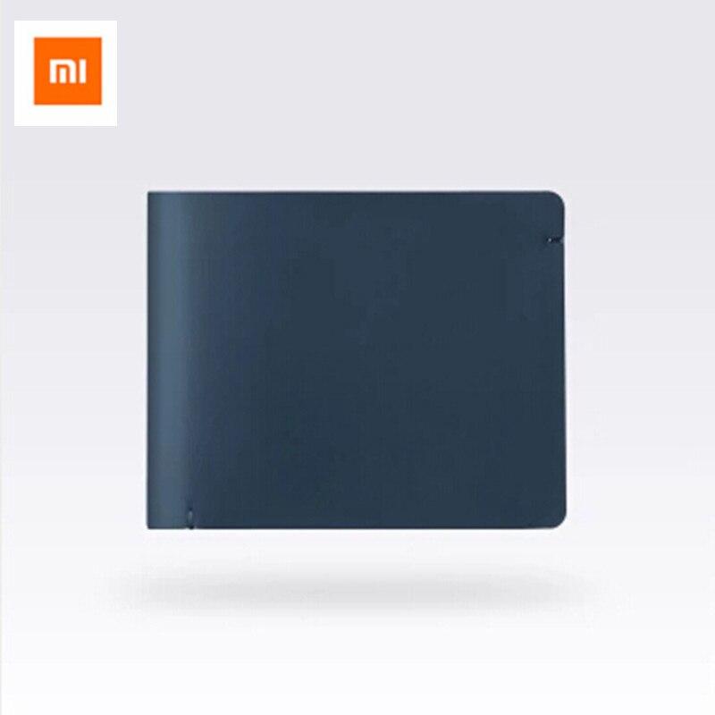 Xiaomi 90 hommes portefeuilles Anti-vol Anti-information volé en cuir souple mode Simple court sac à main élégant portefeuille d'affaires