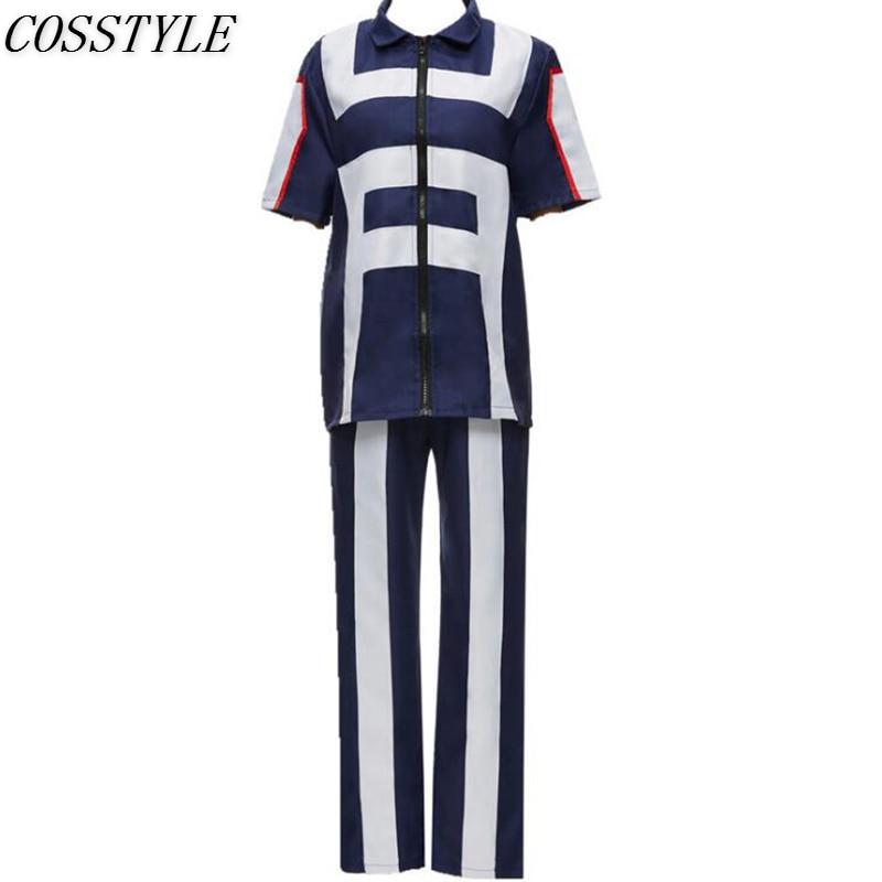 Anime Boku no Hero Bakugou Katsuki/Iida Tenya/Todoroki Shouto Cosplay Costume My Hero Academia Sportswear Tops+Pants Sets