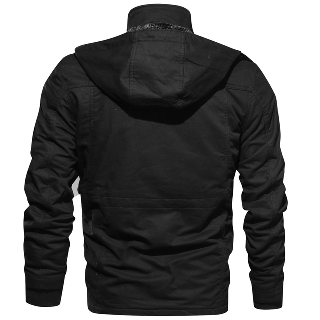 2020 Jacket Men Thick Warm Military Bomber Tactical Jackets Mens Outwear Fleece Breathable Hooded Windbreaker Coats 5XL Clothes 2