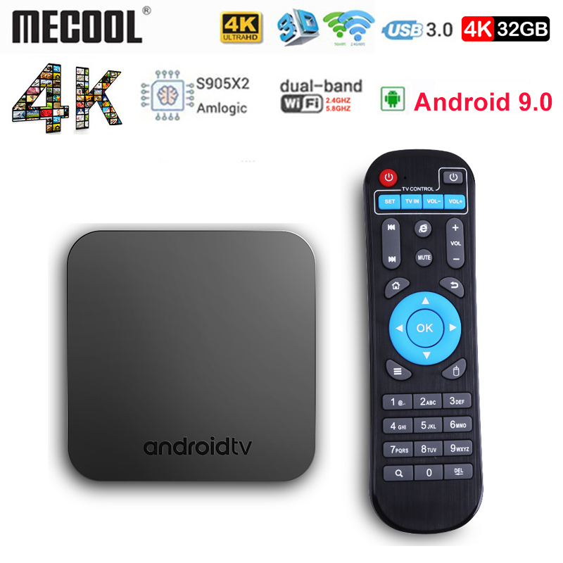 Mecool KM9 4G 32G TV Box Android 9.0 S905X2 4K USB3.0 Smart TV Set Top Box 2.4G/5G WIFI Belgium Poland Mecool KM9 Android TV BoxMecool KM9 4G 32G TV Box Android 9.0 S905X2 4K USB3.0 Smart TV Set Top Box 2.4G/5G WIFI Belgium Poland Mecool KM9 Android TV Box