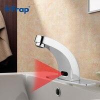 Frap ידיים אוטומטיות חיסכון מים ברזי מים חשמלי אינדוקטיביים חיישן מגע חינם כוח סוללה ברז ברזי אגן F512-1