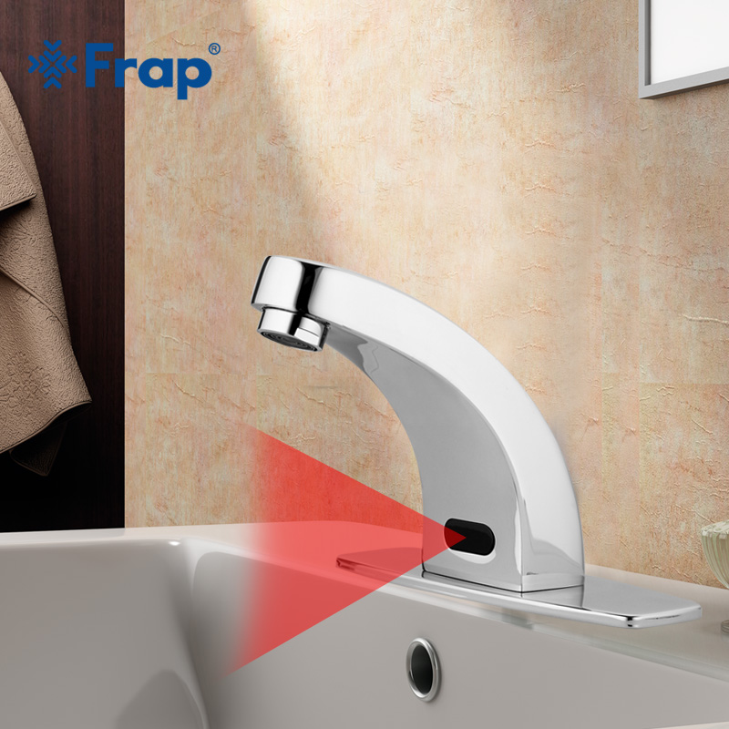 Frap Automatic Hands Touch Free Sensor Faucets water saving Inductive electric Water Tap battery power basin faucets F512-1 touch free water saving chrome