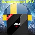 H96Pro + Android 7 0 коробка 3/32G S912 для Европы/Швеции/Франции/Германии/Италии/США/Великобритании/ХХХ 4000 + скандинавских каналов телеприставка