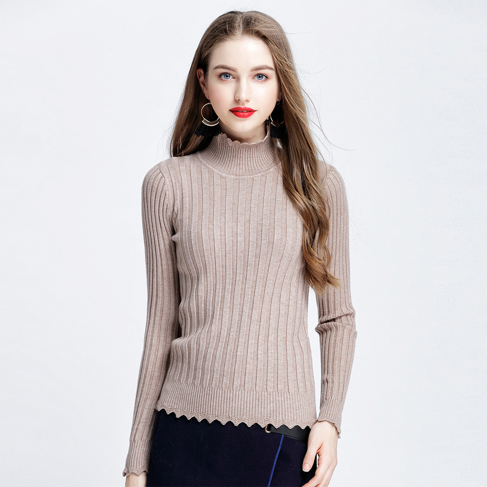 Aliexpress.com : Buy Fashion Women Turtleneck Knitting Sweater ...
