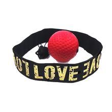 Профессиональная боксерская тренировка рефлекторная скорость поднятие силы ручной глаз боксерская груша набор 1 красный тяжелый шар, 1 повязка на голову