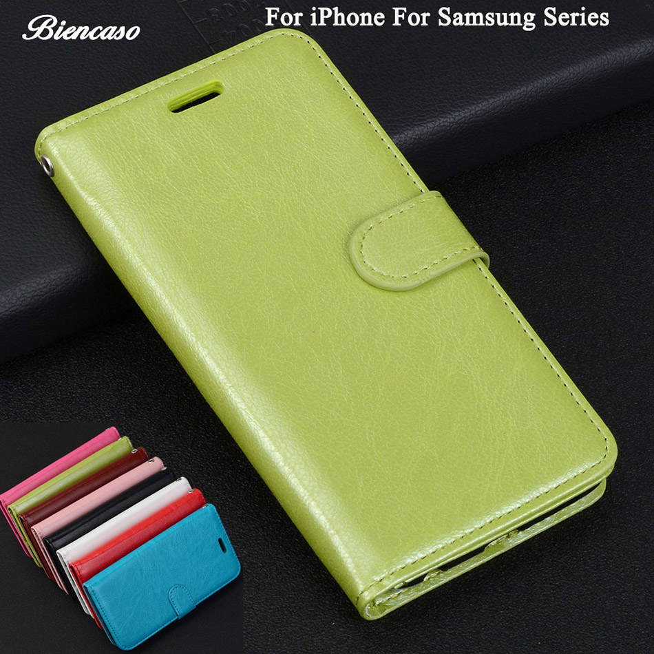 Case For iPhone 7 Plus Leather Wallet Cover For Samsung Galaxy A3 A5 A7 C9 Pro Z3 Core Grand Prime G530 G531 G360 G386 i9060 B82