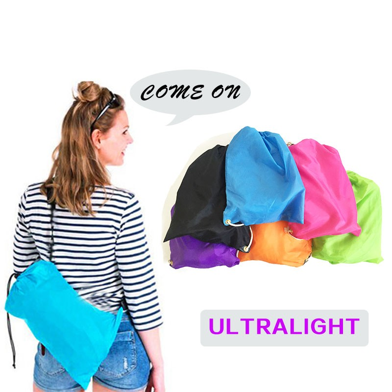 free shipping ultralight laybag hangout inflatable air beach sofa lazy bag 9 colors slee ...