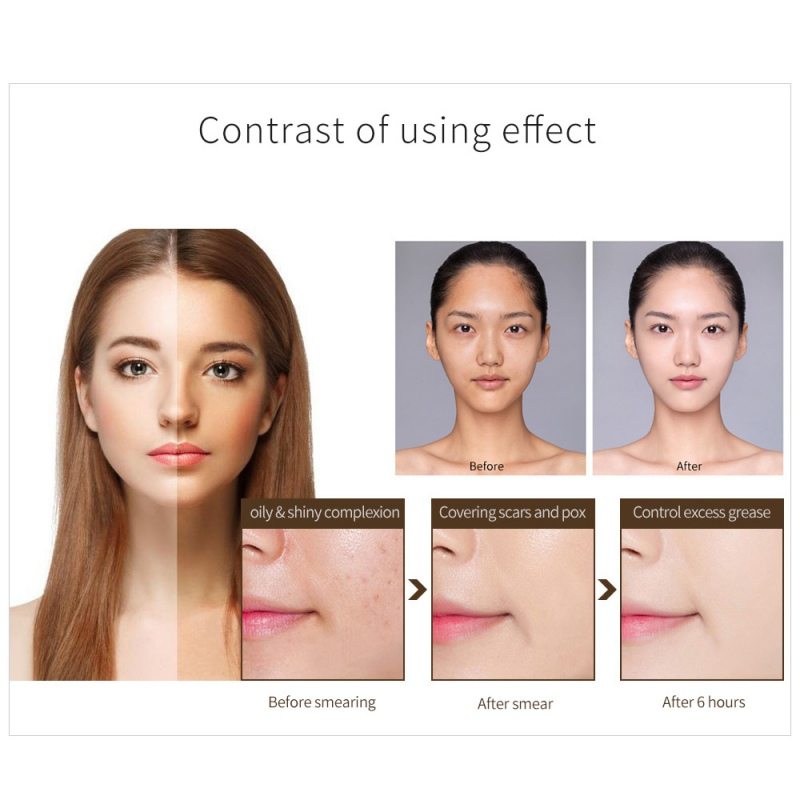 1PC Foundation Base Makeup Concealer Moisturizing Long Wear Oil Control Liquid Women Makeup Cosmetic in Face Foundation from Beauty Health