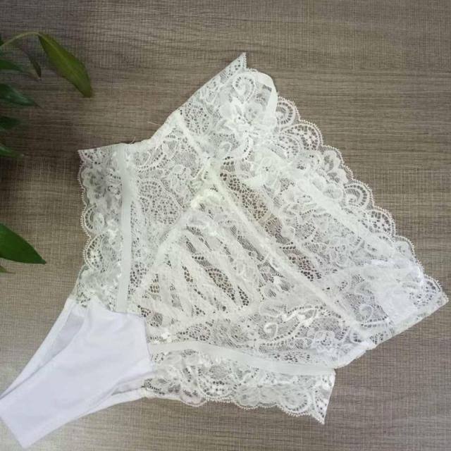 Charm Panties Women High Waist Lace Thongs G Strings Underwear Sexy Hollow Out Underpants Imitation Lingerie For Lady C2 (Copy)