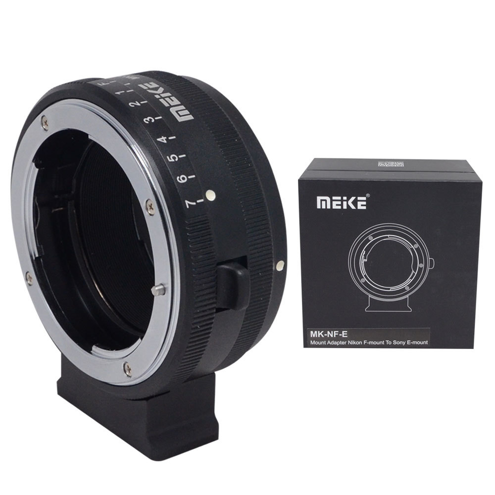 Meike MK-NF-E Mount Adapter Ring for Nikon F-mount Lens to Sony Mirrorless E-mount Camera with the Tripod Threaded Holes