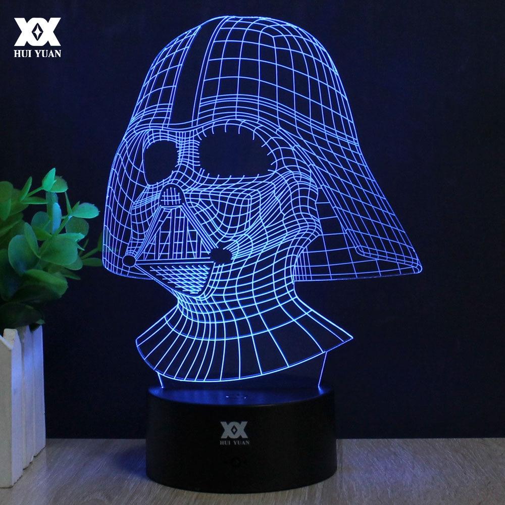 Star Wars Lamp Darth Vader Anakin Skywalker 3D Lamp BB-8 LED Novelty Night Lights USB Light Glowing Child's Gift HUI YUAN Brand