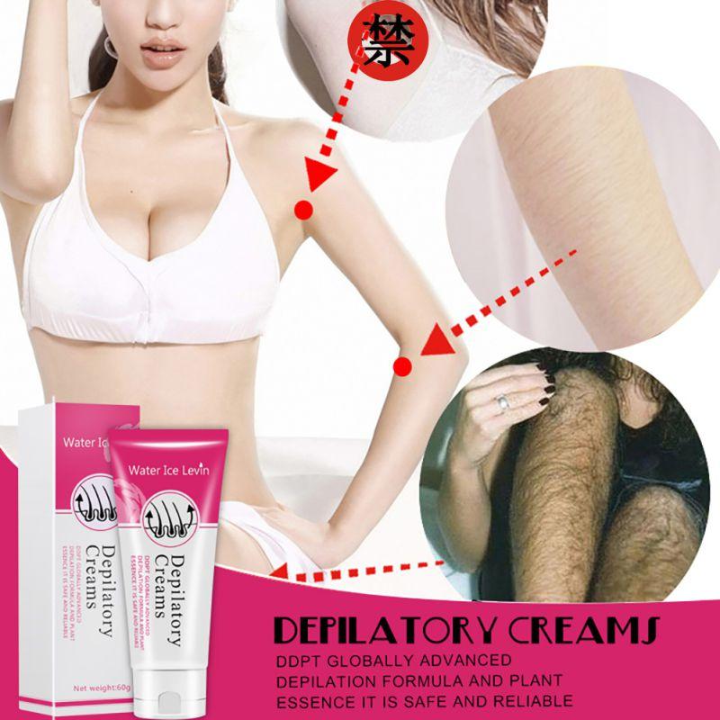 Vattenis Levin Smärtfritt Depilatory Cream Ben Skyddskräm - Rakning och hårborttagning - Foto 6