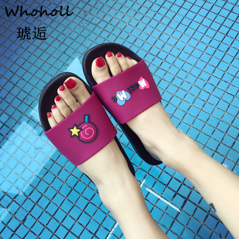 Whoholl Cartoon Fruit Women Slippers Candy Banana Home Slippers Summer Sandals Slides Women Shoes Flip Flops Sandalias Mujer 44 in Slippers from Shoes