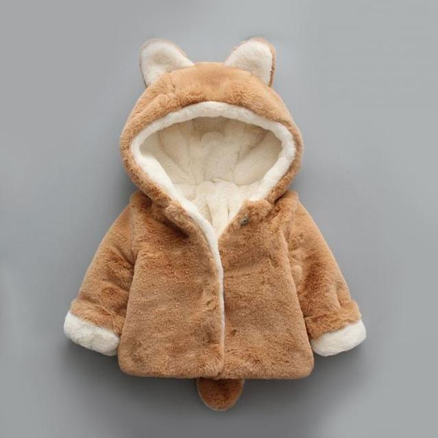 0adff536ff4b New Winter Infants Baby Boys Girls Thick Plush Hooded Coat Tiddler ...