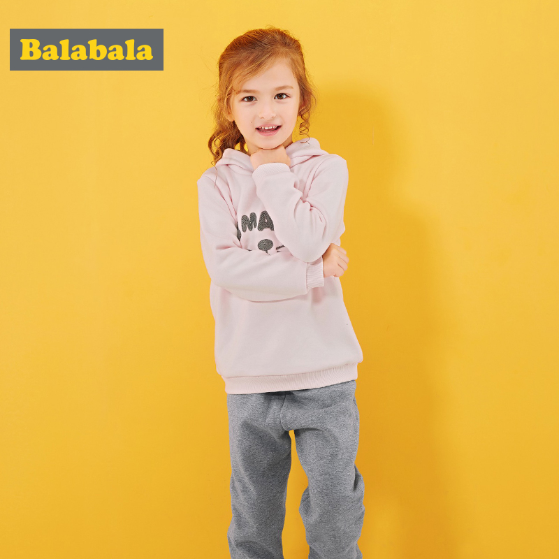 balabala baby girls clothes set suits toddler kids clothing autumn hoodies+Pants hot sale two pcs sets cartoon clothes for girls босоножки see by chloe see by chloe se011awzkk46