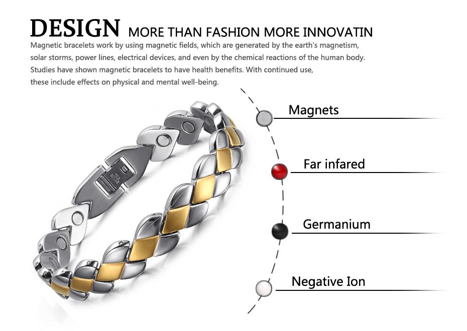 Высококачественные модные мужские магнитные браслеты welmag