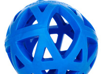 Eco-friendly Natural Rubber Dog Toys Leakage ball Hollow blue pet feed interactive training ball