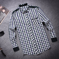New Top Men Plaid Shirt Camisas 2016 New Arrival Men's Fashion Plaid Long-sleeved Shirt Male Casual High Quality Shirts