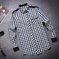 Nuevos Mejores Hombres Camisa A Cuadros Moda Camisas 2016 Nuevos hombres de la Llegada A Cuadros de manga larga Camisa Casual Masculina de Alta Camisas de calidad