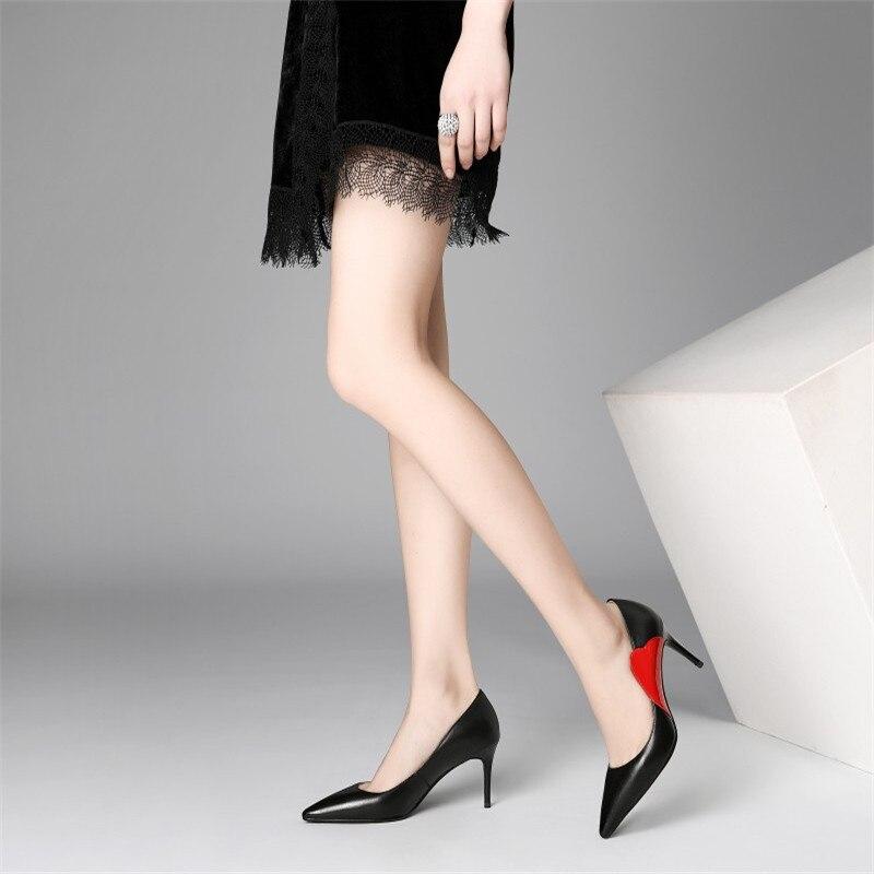 Zapatos Las Mujer 2019 De Talón Ljj Negro Alto 0406 Del Nueva Y Otoño Estilete Primavera Mujeres Iwqf1BF
