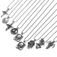 Stainless Steel Shantou Skull Series Charm Pendant Religious Cross Pendants Men Necklace Jewelry Wholesale 10pcs