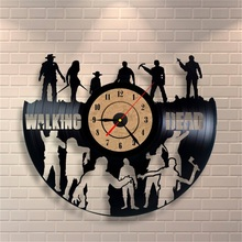 Wholesale CD Vinyl Record Wall Clock Modern Design Walking Dead Movie Home Decoration Watch