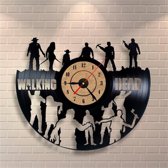Wholesale CD Vinyl Record Wall Clock Modern Design Walking Dead Movie Home Decoration Watch