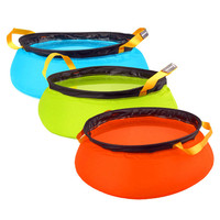 Outdoor Foldable Camping Bucket Water Folding Bucket Boiled Water Bag Wash basin Foldable foot bath container 10L free shipping