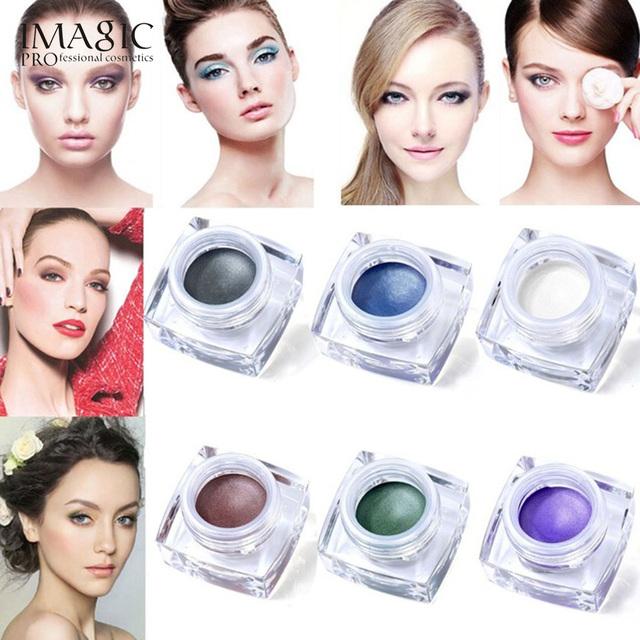 6 Colores A Prueba de agua de Larga Duración Brillo Sombra de Ojos Crema, Mulfunctional maquillaje Set #1