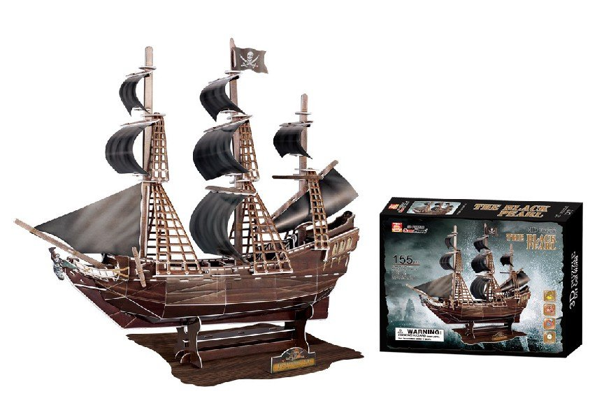 Stereo jigsaw Black Pearl Pirates of the Caribbean ship model kit 3D paper puzzle toy children