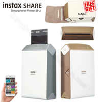 Fujifilm Instax Partager Smartphone Imprimante SP-2, Deux Couleurs Argent et Or + Assortie Cas Cadeau