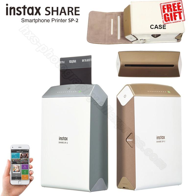 Fujifilm Instax Share Smartphone Stampante SP-2, Due Colori Argento e Oro + Abbinato Cassa Del Regalo