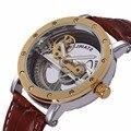 SHENHUA New Design Oco Dial Automatic Men Mecânica Assista Mens relógios top marca de luxo Relogio masculino Montre