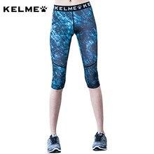 98179fc2c7c93 KELME Women's Running Tights Compression Yoga Tights Gym Fitness Elasticity  Slim Capris 3/4 Pants Sports Legging KWC161013