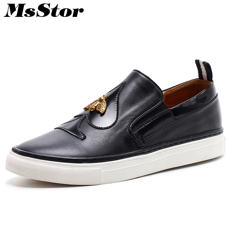 купить MsStor Metal Decoration Round Toe Women Flats Casual Fashion Ladies Flat Shoes Increased internal Cross tied Women Flat Shoes недорого