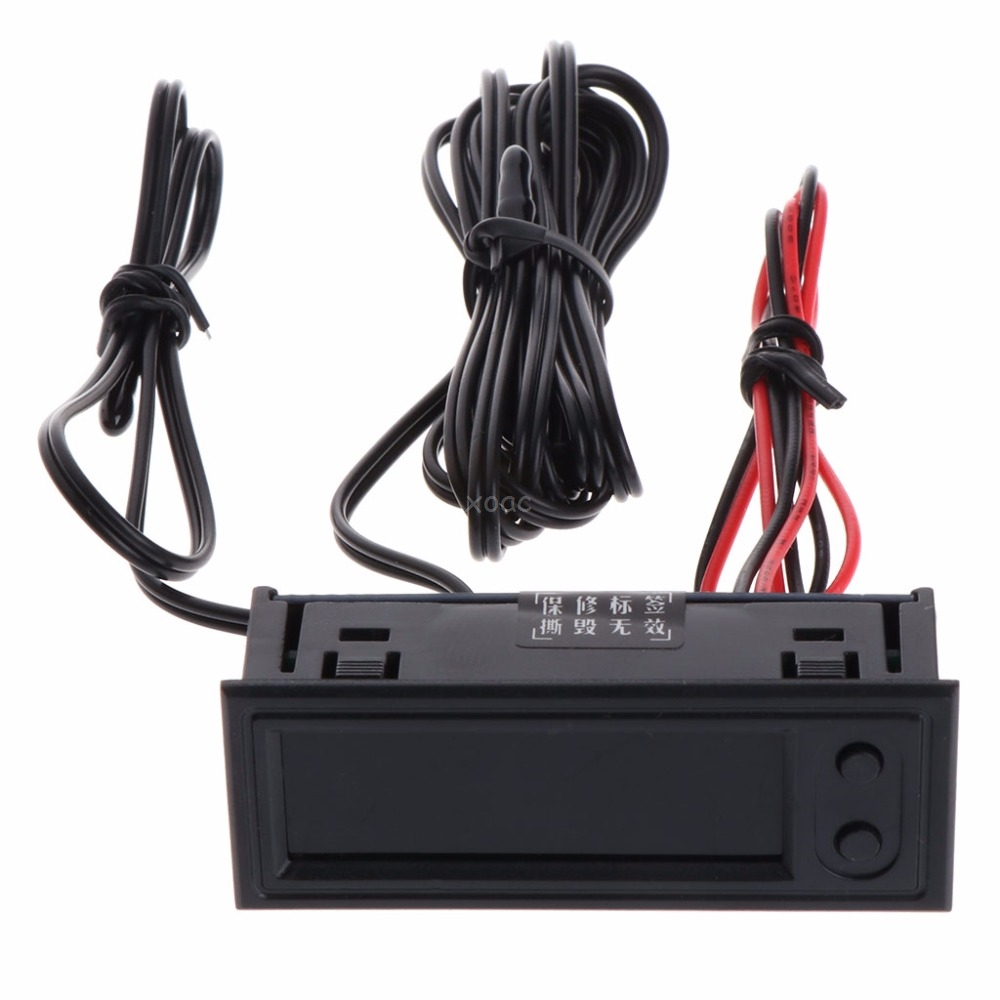 DIY Multifunction Clock Car Temperature Battery Voltage Monitor Voltmeter DC 12V May08 Dropship