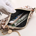 women bags,2015 new leopard hand shoulder messenger packet chain bag woman purse bag, free postage