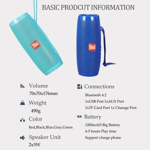 Image 5 - Wireless Bluetooth Speaker Led Lights Column Box Loudspeaker FM TF USB For Cell Phone Computer