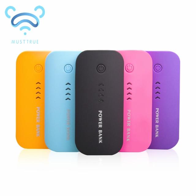 ea4589cf947 Musttrue Banco de la Energía 5600 mah USB Paquete de Batería Externa  Powerbank Cargador Portátil Batería