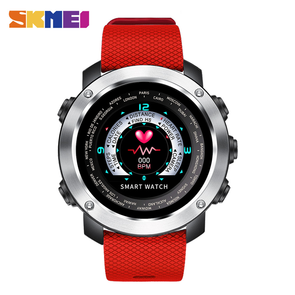 SKMEI 3D UI Digital Smart Watch Men Sport Smartwatch Heart Rate Calories Remote Waterproof Wristwatch Male Relogio Masculino W30SKMEI 3D UI Digital Smart Watch Men Sport Smartwatch Heart Rate Calories Remote Waterproof Wristwatch Male Relogio Masculino W30