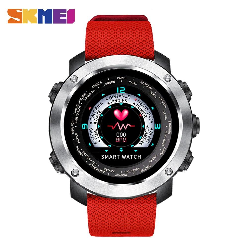 SKMEI 3D UI Numérique Smart Montre Hommes Sport Smartwatch de Fréquence Cardiaque Calories À Distance Montre-Bracelet Étanche Mâle Relogio Masculino W30